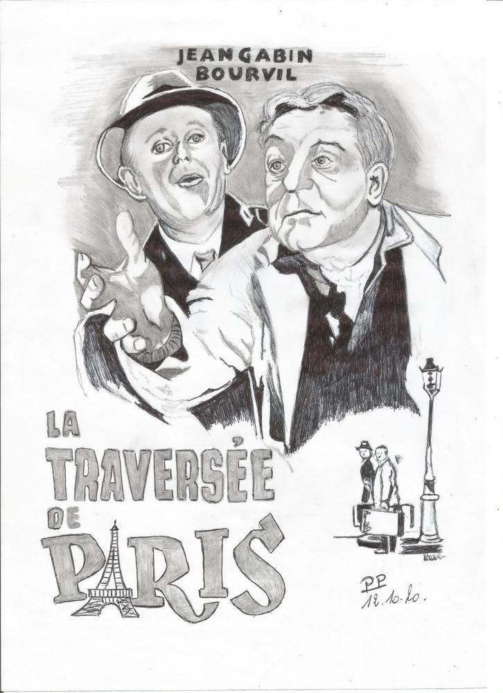 Bourvil, Jean Gabin by Patoux